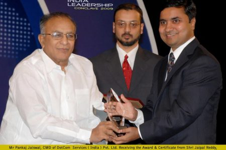 Pankaj Jaiswal Recieving Award @ ILC 2009